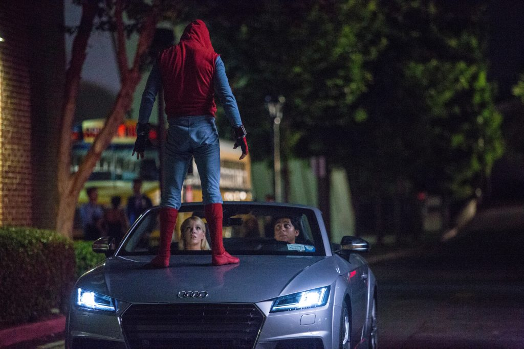 Spider-Man 'Peter Parker' drives an Audi TTS Roaders in the new Marvel blockbuster 'Spider-Man: Homecoming'