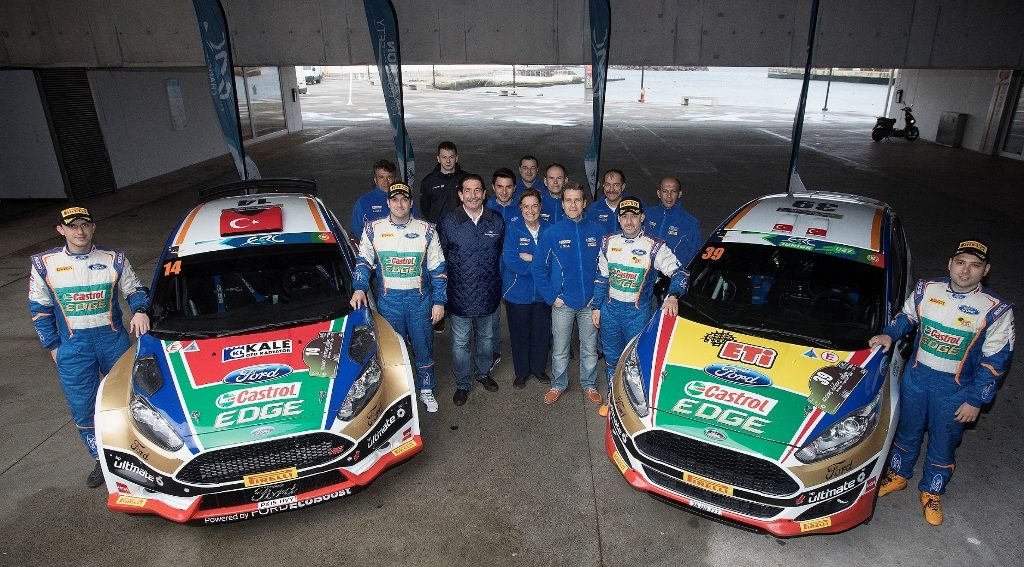 14 BOSTANCI Murat VATANSEVER Onur Ford Fiesta R5 Ambiance Portrait 39 BANAZ Bugra ERDENER Burak Ford Fiesta R2 Ambiance Portrait during the 2017 European Rally Championship ERC Azores rally, from March 30 to April 1, at Ponta Delgada Portugal - Photo Gregory Lenormand / DPPI